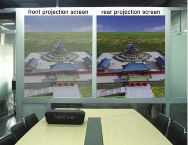 compare rear projector system