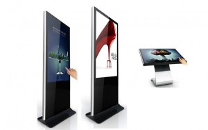 floor standing digital signage kiosks