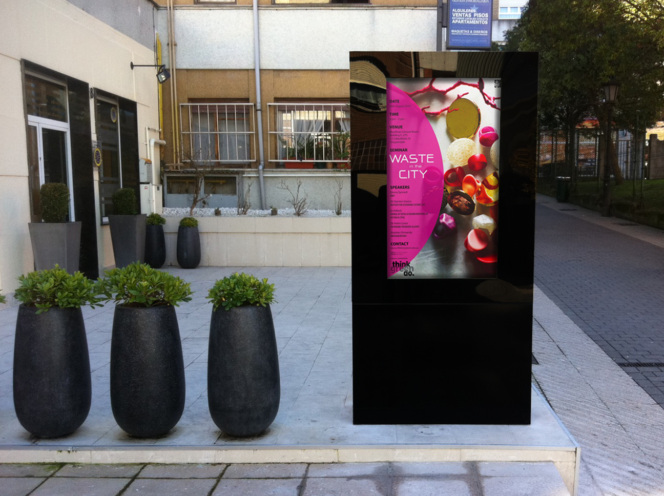 implementing outdoor digital signage