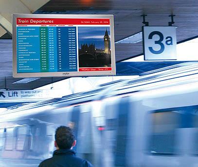 digital signage in transit locations