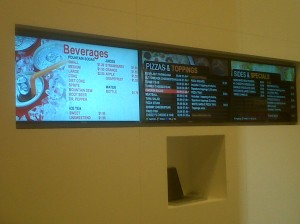 QSR menu boards