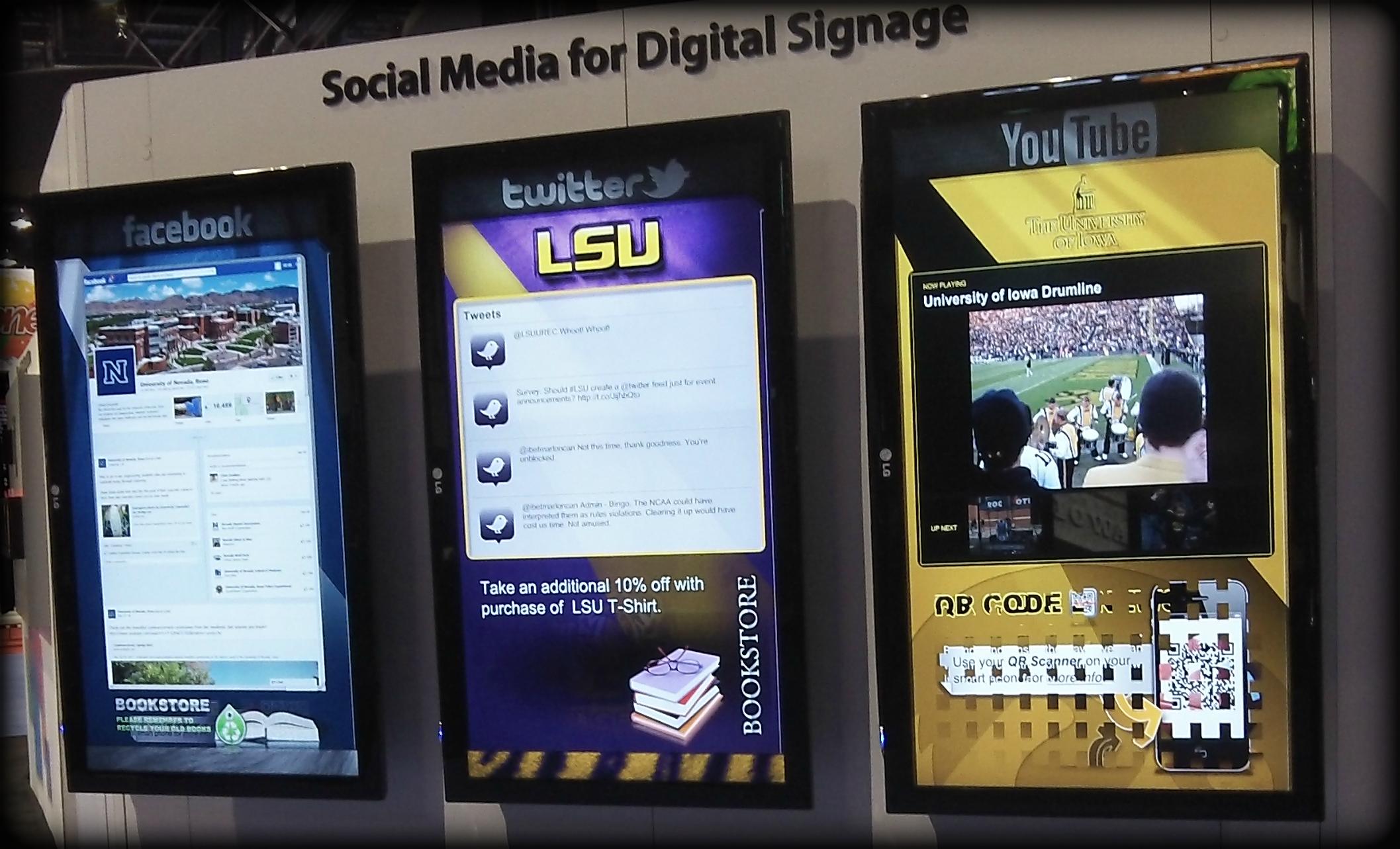 trade show digital signage