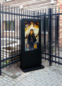 floor standing outdoor digital signage