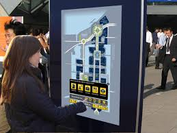 interactive outdoor advertising kiosk