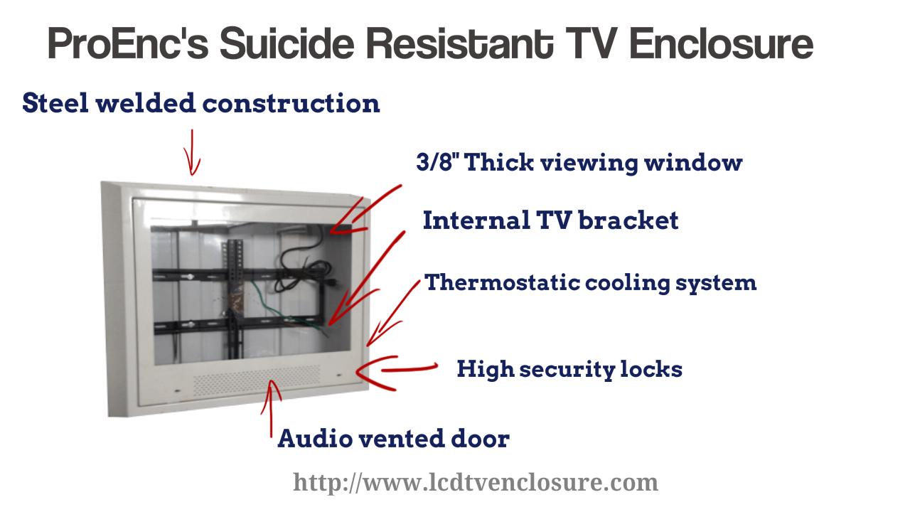 anti ligature tv enclosures
