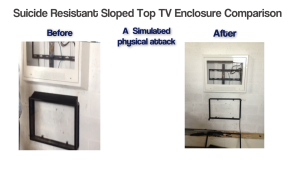 suicide resistant sloped tv enclosure comparison