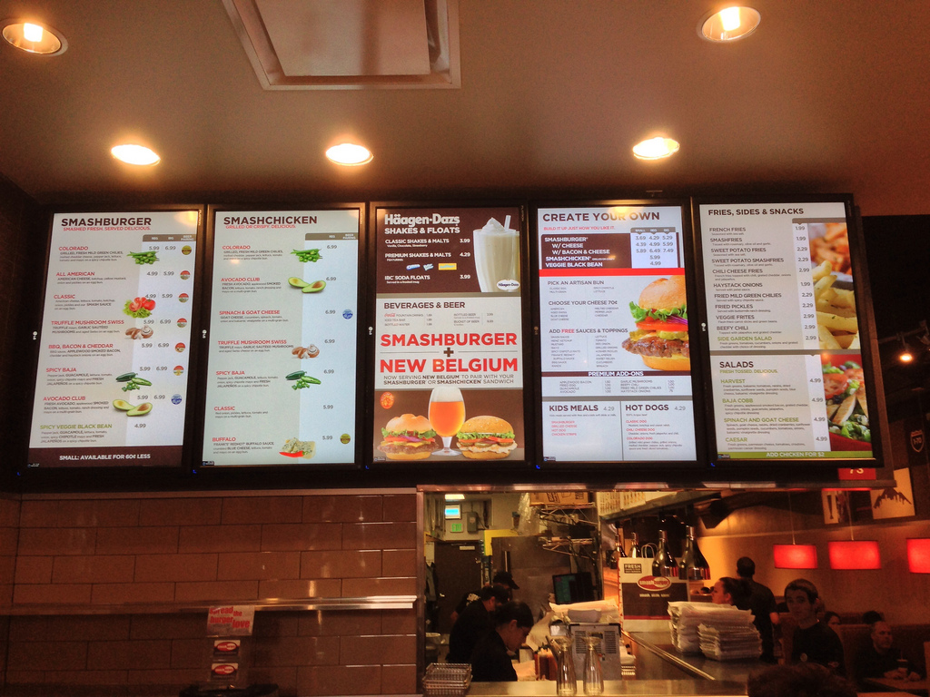 outdoor digital menu boards
