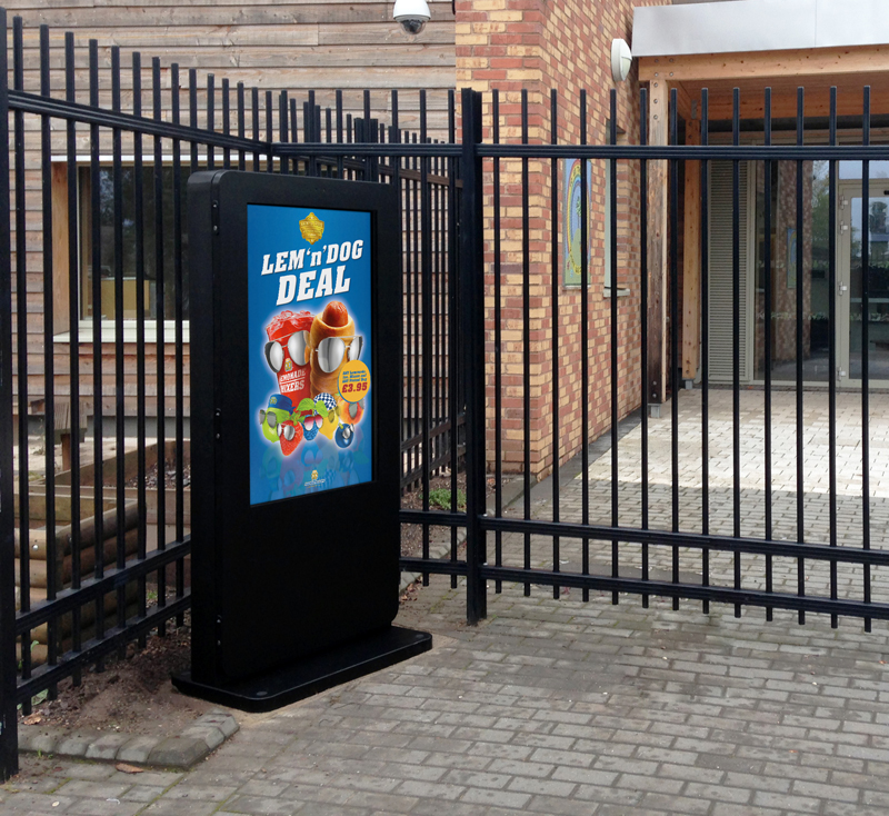 outdoor advertising totem kiosk