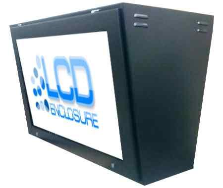 double screen TV enclosure
