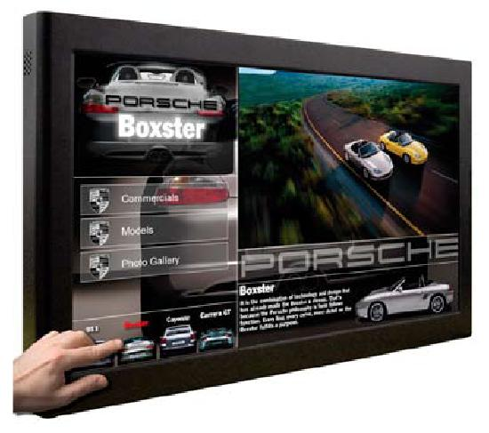 touch screen digital poster