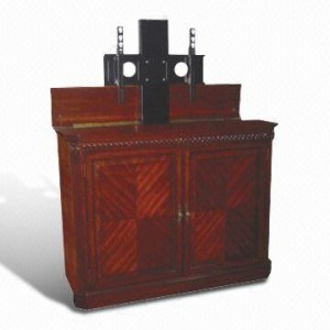 wooden cabinet plasma lift