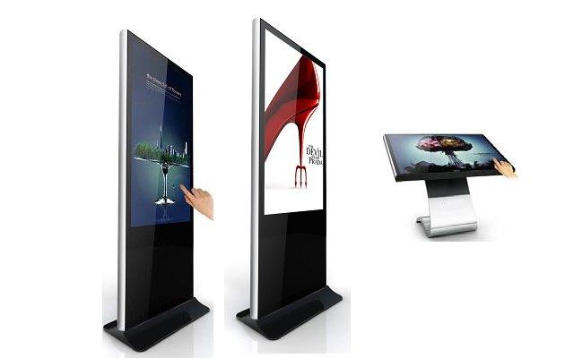 floor standing digital signage kiosks
