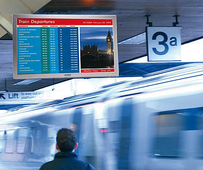 digital signage in transit locations