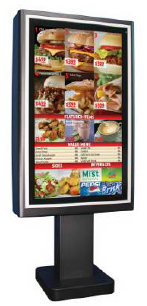 outdoor menu board at restaurants