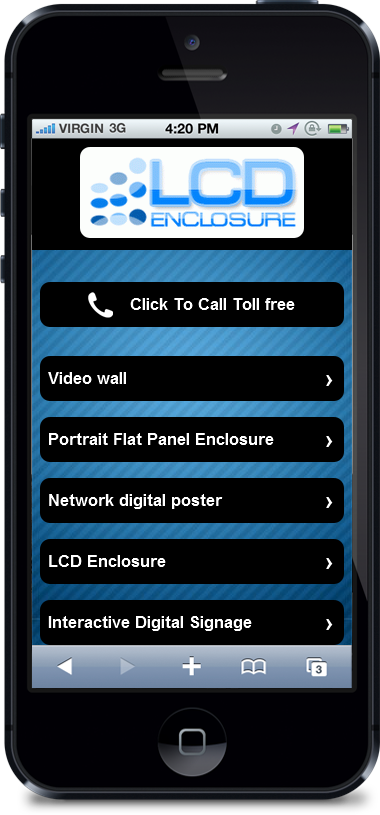Digital Signage Platform for cell phones