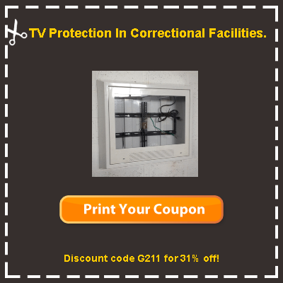 security tv enclosures for correctional facilities