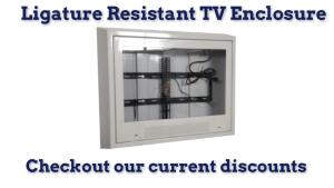ligature resistant TV enclosure