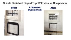 suicide resistant sloped tv enclosure comparison