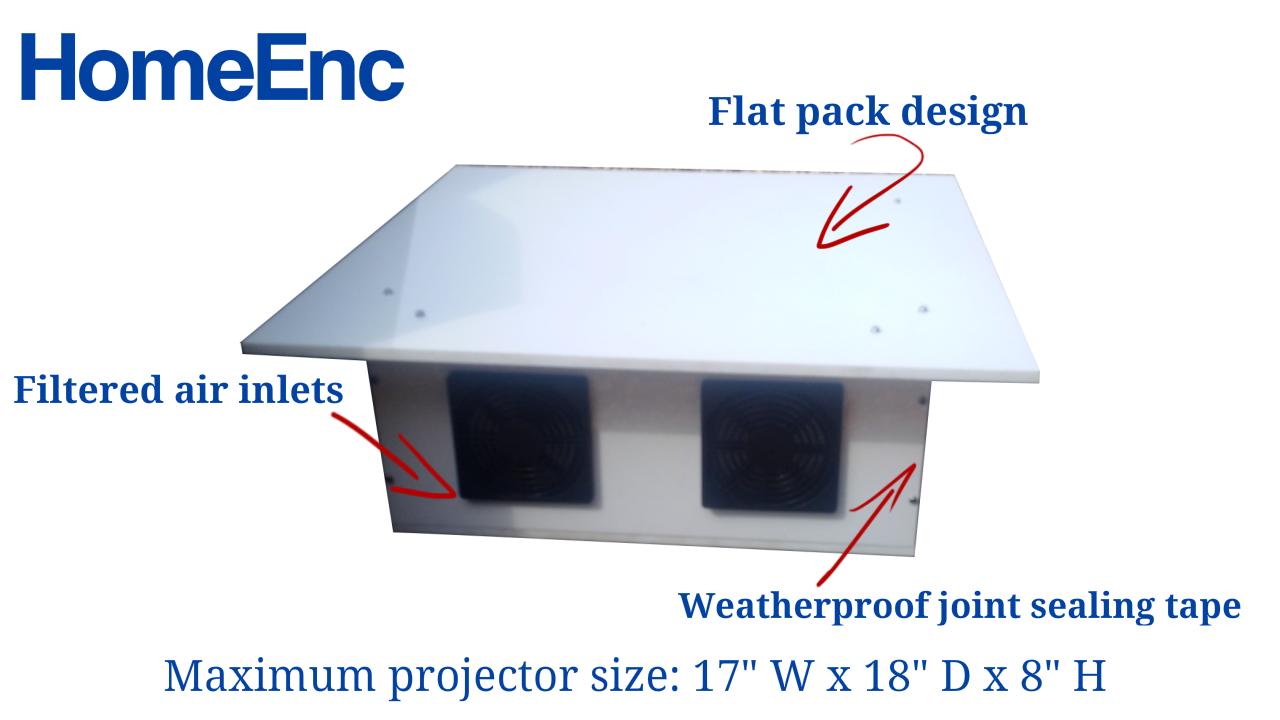 backyard projector enclosure