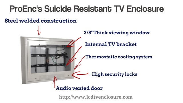 institutional tv enclosures